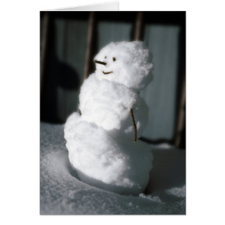 Snowman to the rescue card
