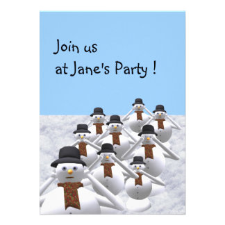 Snowman To Your Christmas Party Invitation Card