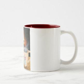 Snowman Toasting Coffee Mugs