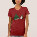 Snowman & Tree Tee Shirts