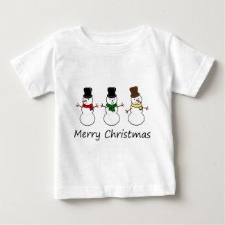 Snowman Trio Baby T-Shirt