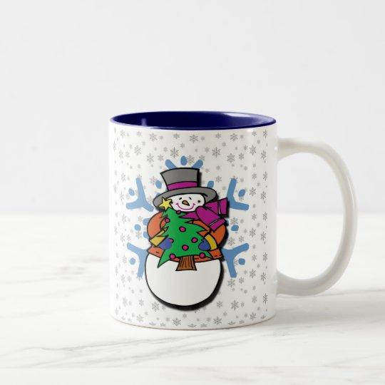 Snowman Two-Tone Coffee Mug