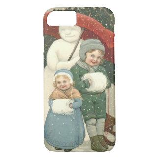 Snowman Umbrella Children Snow Winter iPhone 7 Case