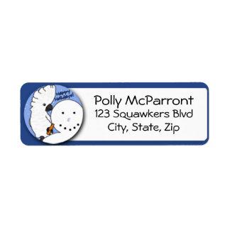 Snowman Umbrella Cockatoo Label