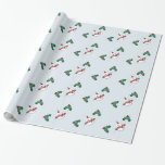 snowman under the mistletoe wrapping paper