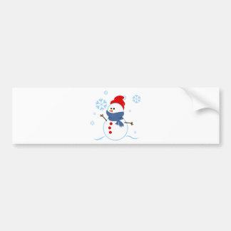 snowman V14 cartoon snowmen snowman snow snowflake Bumper Sticker