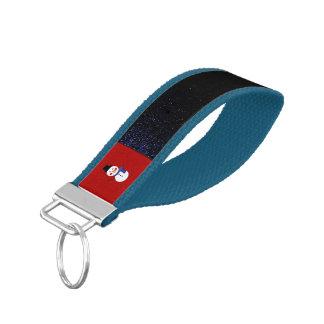Snowman w/ blue scarf wrist keychain