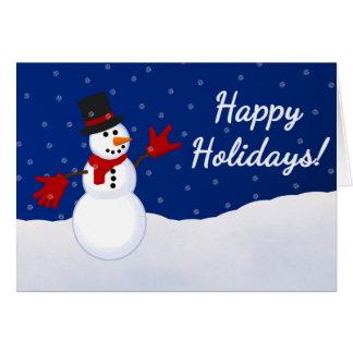Snowman w/ I Love You ASL Handshape Christmas Card