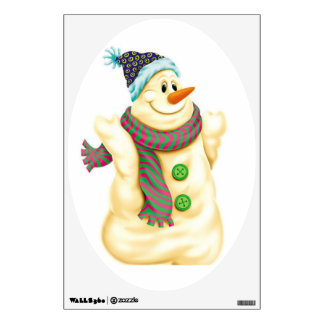 snowman wall sticker