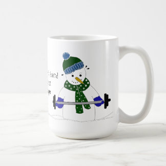 Snowman Weight Lifting Coffee Mug
