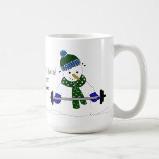 Snowman Weight Lifting Coffee Mug