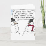 "Snowman went to Florida Holiday Card<br><div class=""desc"">Snowman went to Florida</div>"