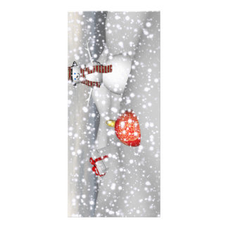 snowman white and gift rack card