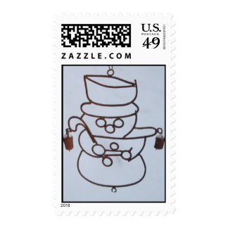 Snowman windchime postage stamps