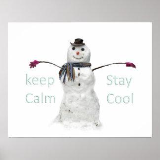 snowman winter funny design poster