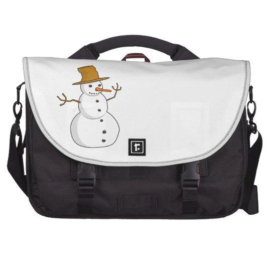 Snowman Winter Happy Family Friends Destiny Season Commuter Bag