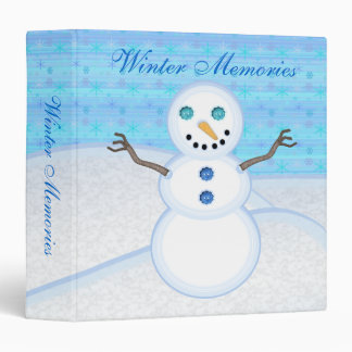 Snowman Winter Memories Binder