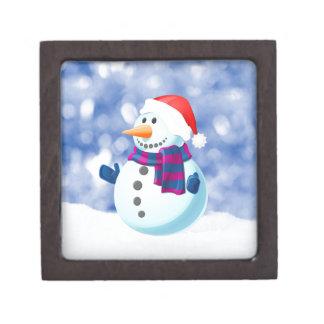 Snowman Winter Merry Christmas Snow Gift Box