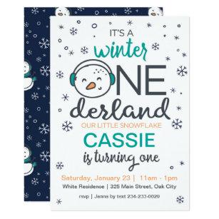 Snowman Winter ONEderland Invitation