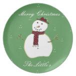 Snowman Winter Plate