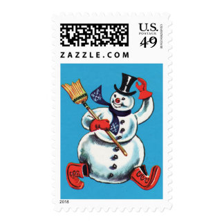 Snowman Winter Postage
