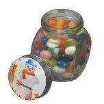 Snowman Winter Stars Destiny Jelly Belly Candy Jar
