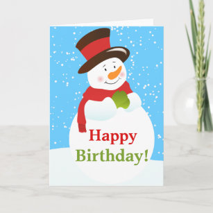 Snowman birthday cards zazzle snowman winter wonderland birthday greeting card m4hsunfo