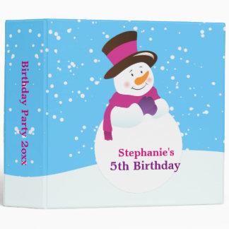 Snowman Winter Wonderland Birthday Photo Album 3 Ring Binder