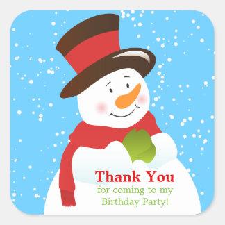 Snowman Winter Wonderland Thank You Sticker