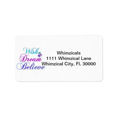 Snowman Wish Dream Believe Gifts Purple & Teal Custom Address Label