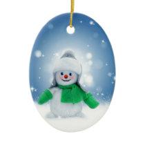 Snowman Wishes Ceramic Ornament