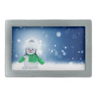 Snowman Wishes Rectangular Belt Buckle