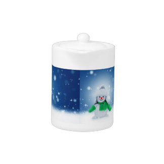 Snowman Wishes Teapot