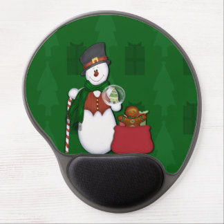 Snowman with A Bag Full Of Presents Gel Mousepad