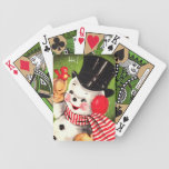 Snowman with Bird Bicycle Playing Cards
