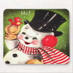 Snowman with Bird Mouse Pads