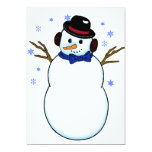 Snowman with Carrot Nose Custom Invite