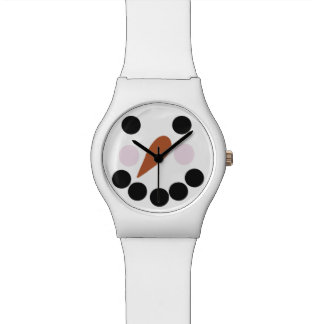 Snowman With Carrot Nose Novelty Wrist Watch