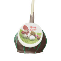 Snowman with golf ball and gift cake pops