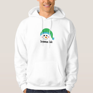 Snowman with Green Toque Hoodie