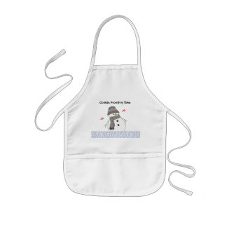 Snowman with Hearts Baking Design Kids' Apron