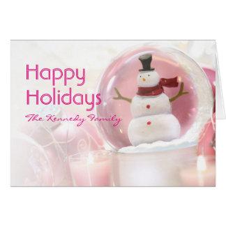 Snowman With Ice Skates Card