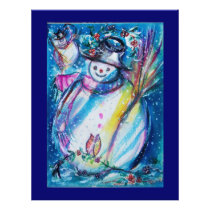 SNOWMAN WITH OWL FLYER