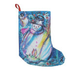 SNOWMAN WITH OWL SMALL CHRISTMAS STOCKING
