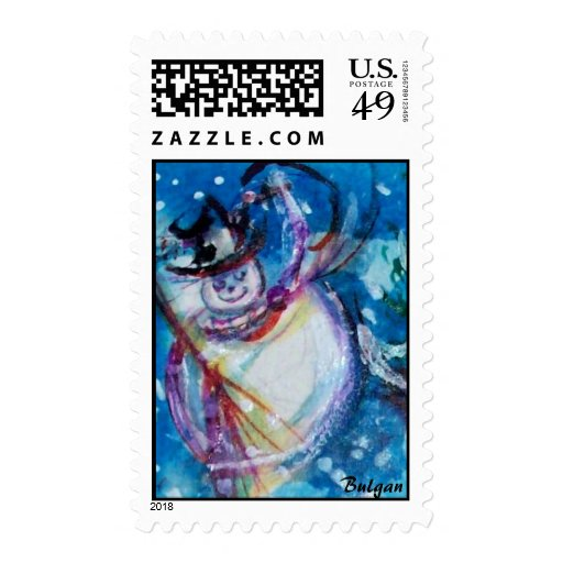 SNOWMAN WITH OWL STAMP