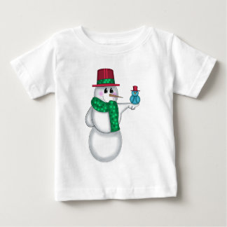Snowman with Red Bird Folk Art Infant T-shirt