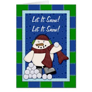 Snowman with Snowballs - Snowmen Card