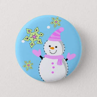 snowman with snowflakes screen button