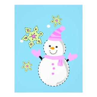 snowman with snowflakes screen flyers