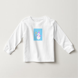 snowman with snowflakes screen t shirts